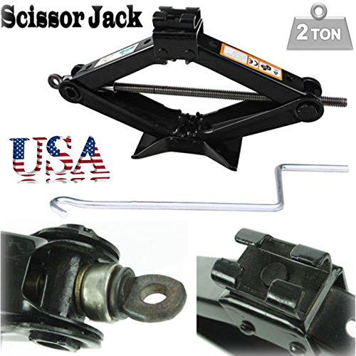 RustProof Scissor Wind Up Jack Lift Chromed Crank Speed Handle 2 Tonne for Car Van Garage Home Emergency