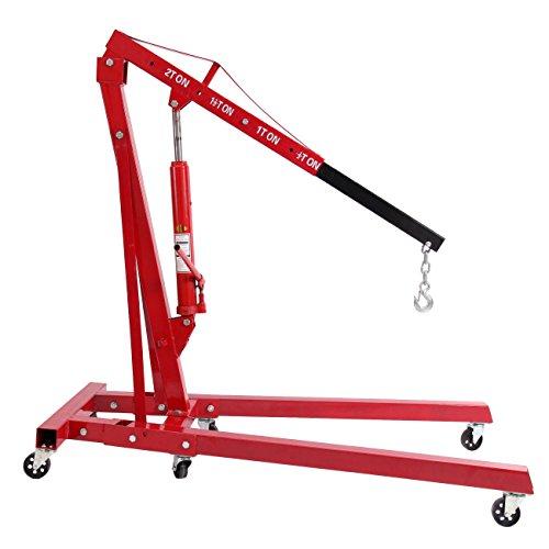Iglobalbuy 2 Ton4400lb Hydraulic Jack Folding Engine Hoist Shop Crane Lift