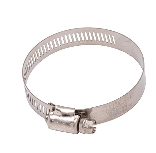 78 to 2-34 Diameter Stainless Hose Clamp 916 Wide Band 36 300 SS 18-8 SS 10pc