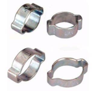 TJ Longda 20 Pieces Double Ear 2 Ear Hose Clamps Size 516