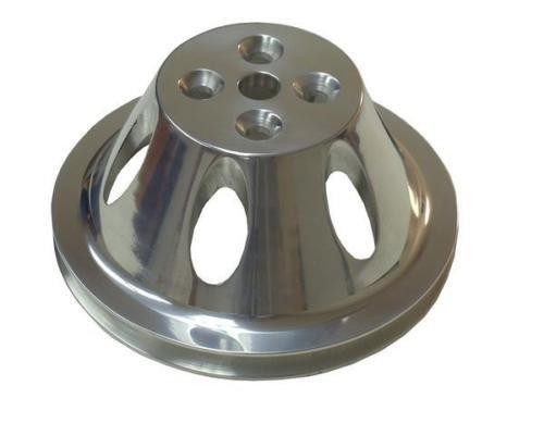 SB Chevy Aluminum Water Pump Pulley 1 Groove Swp Short Water Pump SBC 327 350
