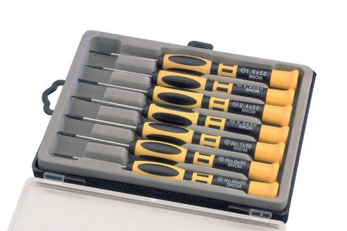 Aven 13940 Precision Chromium Vanadium Steel SlottedPhillips Screwdriver Set With Case 7-Piece