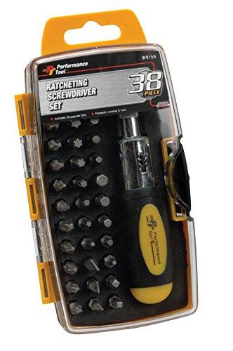Performance Tool W9159 Ratchet Screwdriver Set 38 pc Non-Carb Compliant