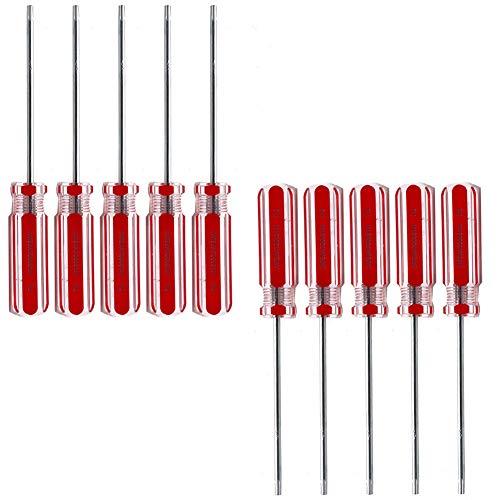 Rannb T10 Torx Screwdriver Magnetic Tip Tamper Proof Screwdriver - Pack of 10
