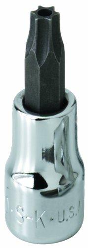 SK Hand Tool 42507 Tamper Proof Torx T7 Drive Bit Socket 14-Inch