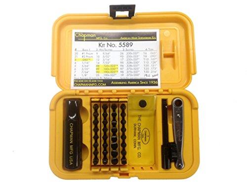 Chapman Mfg 5589 Ultimate Gunsmith Screwdriver Ratchet Bit hand tools Set