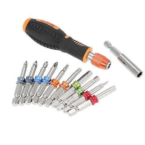 JAKEMY JM-6122 12 in 1 Professional Color Ring Screwdriver Set Multi-functional Screw Bits Kit Repair Tools
