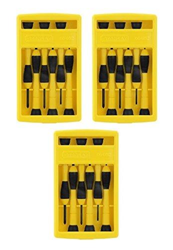 Stanley 66-052 6 Piece Precision Screwdriver Set 3 Pack