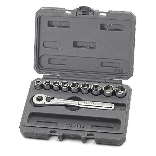 Craftsman 10 Piece 6 Pt 38 Inch Dr Metric Socket Wrench Set 9-34554