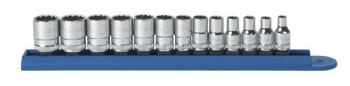 GearWrench 80306 13 Piece 14-Inch Drive 12 Point Standard Metric Socket Set