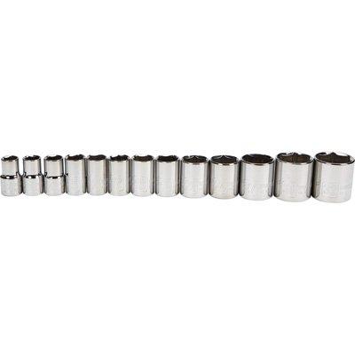 Klutch 12in-Drive Socket Set - 13-Pc Metric