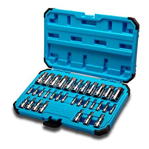 Capri Tools 30032 Master Hex Bit Socket Set Metric SAE 32-Piece
