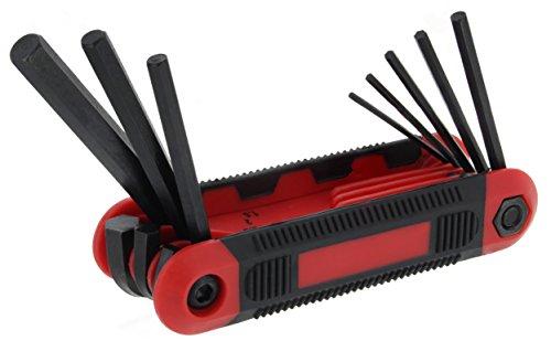 Drixet Red Folding Metricmm Hex Socket Driver Allen Key 8-Piece