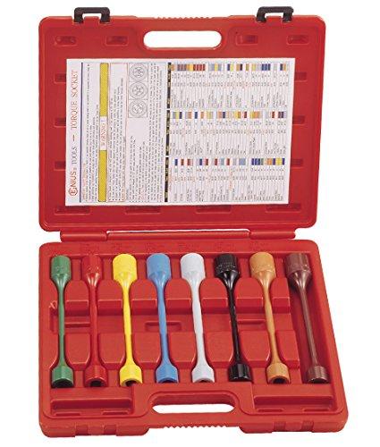 Genius Tools 8Pc 12 Dr Mertic SAE Car Wheel Torque Socket Set TO-408S