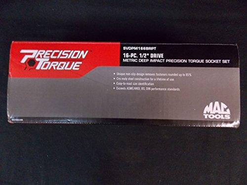 Mac Tools 16 Piece 12 Drive Metric Deep Impact Precision Torque Socket Set PART SVDPM166BRPT