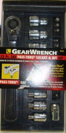 Gearwrench 8922 23 Pcs SAE Pass-thru Socket Bit Set