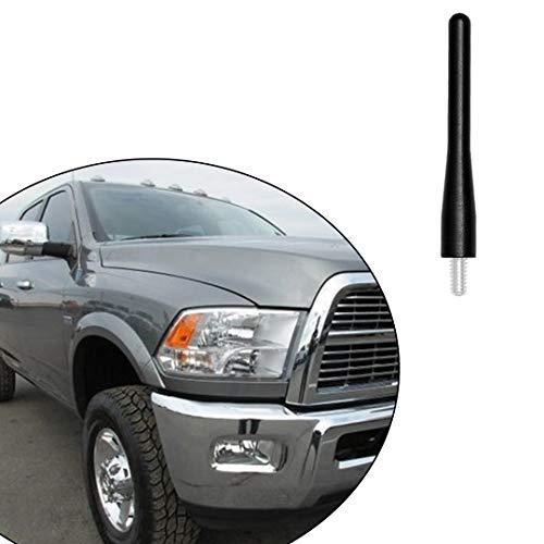 Black 36 Aluminum Short Direct Replacement Screw Thread Performance Antenna Mast Whip fits 2009-2018 Dodge RAM 2500 3500 Truck Pickup