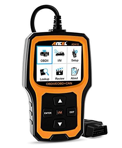 ANCEL AD410 Enhanced OBD II Vehicle Code Reader Automotive OBD2 Scanner Auto Check Engine Light Scan Tool BlackYellow