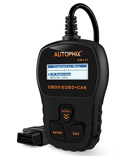 OBD2 Code Reader Autophix OM121 Car Diagnostic Tool Scantool CAN Check Engine Lights IM Readiness Black