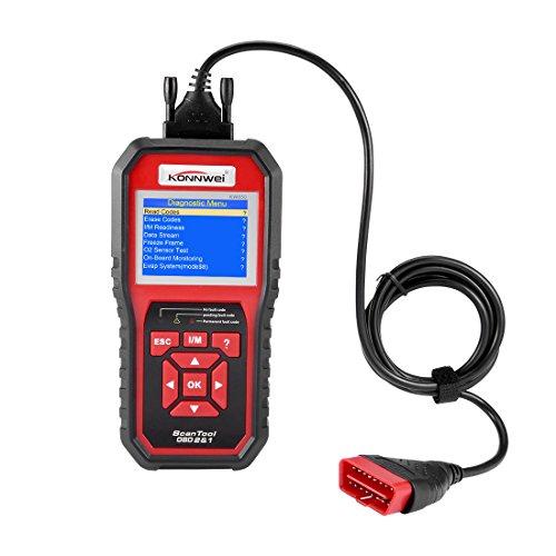 uxcell KONNWEI Authorized KW850 Automotive Scanner Multi-language Full OBDII Auto Diagnostic Tool