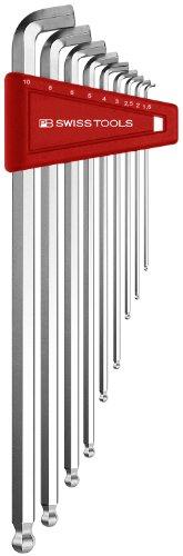 PB Swiss Tools PB 2212LH-10 Ballend hex wrench set long stubby tip