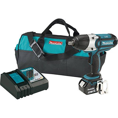 Makita XWT041X 30Ah 18V LXT Lithium-Ion Cordless 12 Square Drive Impact Wrench Kit