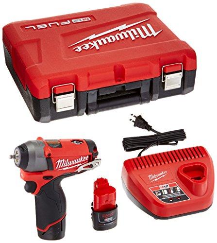 Milwaukee 2452-22 M12 Fuel 14 Impact Wrench Kit W2 Bat