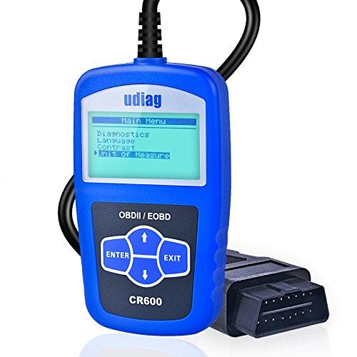 Code Reader Udiag CR600 OBD2 Scanner Diagnostic Scan Tool Check Auto Engine Light Fault Codes Reader for OBD2 Vehicle Blue