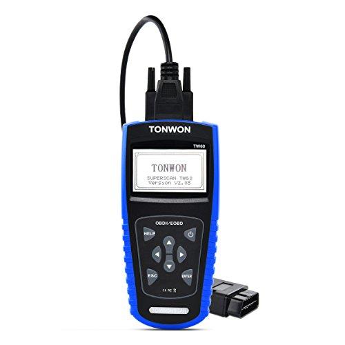 TONWON OBD2 Scanner Auto Code ReaderOBDiiEOBD Universal Car Engine Fault Adapter Diagnostic Scan Tool-TW60