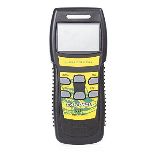 Autvivid Professional U581 Scan Too Scanner OBD2 Code Reader CAN Diagnostic Live Data Reader Auto Code Reader Black Yellow