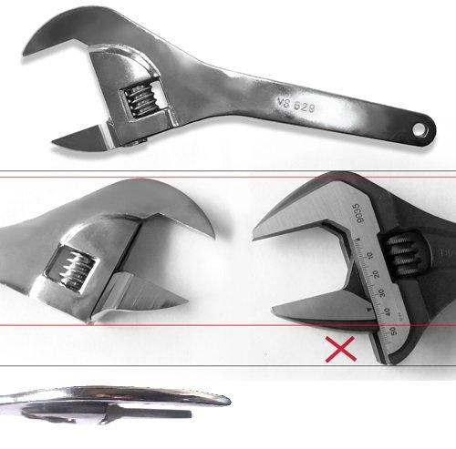 V8 Tools V8T629 2 Super Thin Adjustable Wrench