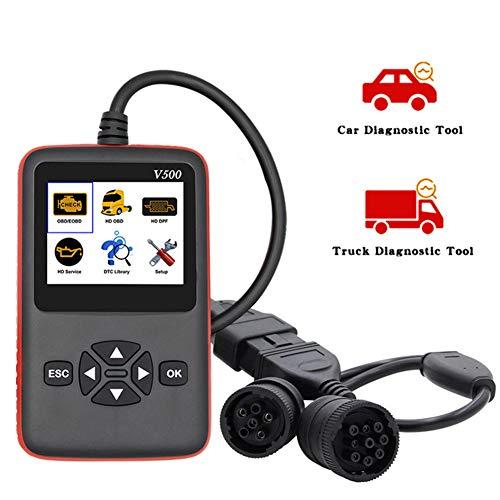 DishyKooker V500 OBD2EOBD Trolley Truck Car Fault Reading Card Detector Diesel Vehicle Diagnostic Instrument Engine Scanner AutoAccessory