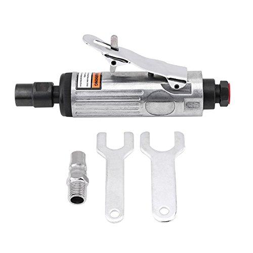 Keenso Air Die Grinder Kit 14 Inch Pneumatic Extended Straight Air Die Grinder Kit Polishing Engraving Tool 90PSI
