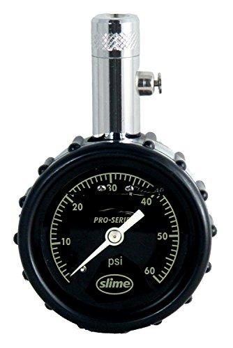 Slime 20289 Pro Series Liquid-Filled Dial Gauge 0-60 PSI