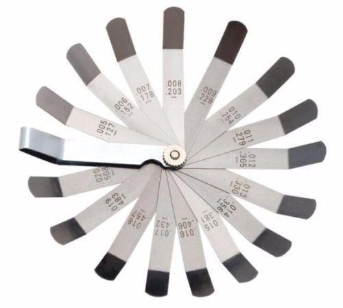 16 Blades offset Feeler Gauge METRIC SAE 0127mm0005-0508mm02