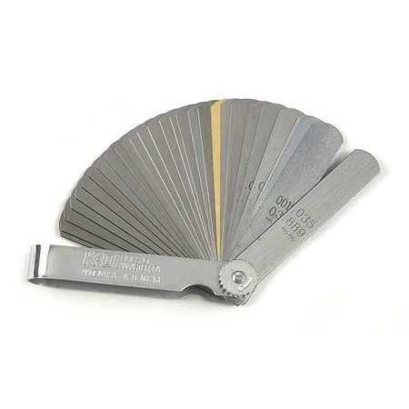 Feeler Gauge 32 Blade 00015 to 0035 In