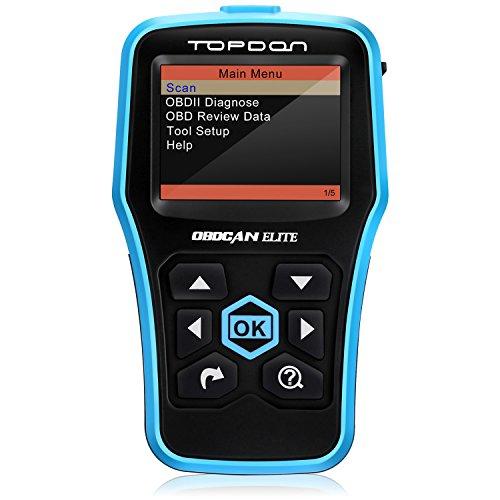 OBD2 Scanner Topdon ABSSRS Scanner Universal CAN OBD2 Scanner OBDII Car Computer Diagnostic Tool Car Code Reader for DIY and Professional Topdon Elite
