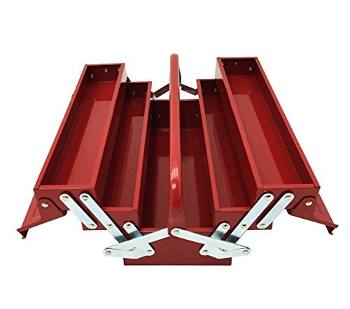 Excel TB124-Red 14-Inch Cantilever Steel Tool Box Red