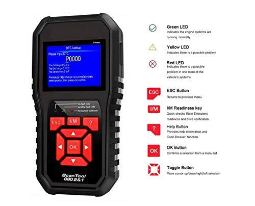 WUAZ OBD2 ReaderUniversal OBD2 Scanner Car Diagnostic Scan Tool Check Engine Light Auto Fault Code Reader for Car Engine OBD2EOBD