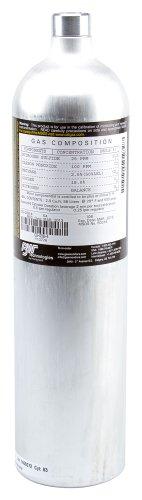 BW Technologies G0042-H25 Single Calibration Gas Aluminum Cylinder 25 ppm H2S N2 Balance 58L Capacity