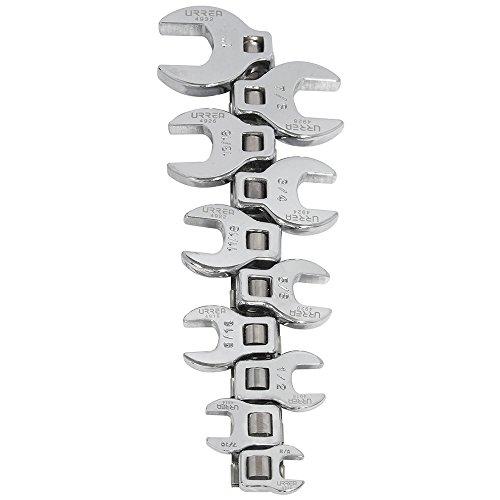 Urrea 4900-10 38-Inch Drive Crowfoot Wrench Set
