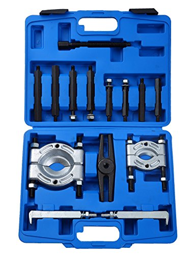 Ztech 14PCS Bearing Separator Puller Set 2 and 3 Splitters Remove Bearings Kit Heavy Duty