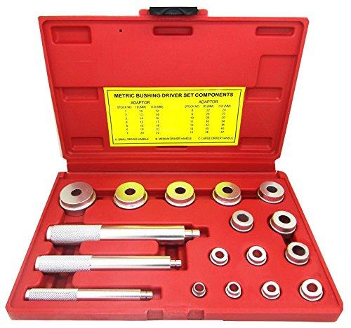 17PCS Wheel Bearing Race Seal Driver Installer Remover Wheel Axle Bushing Tool Kit