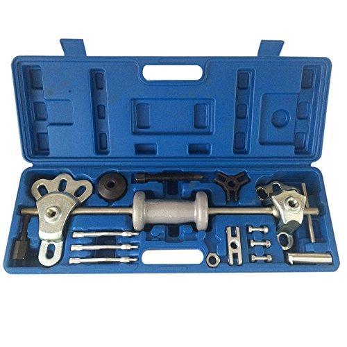 17pc 9 Way Slide Hammer Axle Bearing Dent Hub 2 3 Internal External Gear Puller Tool Set WCase