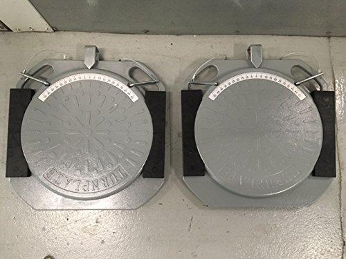 Aluminum Wheel Alignment Turn Plates Turntablesplatesturntablespadstie Rod Adjustment Set of 2