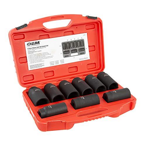 OEMTOOLS 27188 Deluxe 6 Pt Axle Nut Socket Set 9Piece