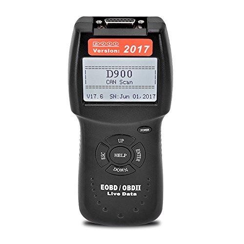 D900 20176V EOBD OBDII Scanner Car Engine Code Reader Live PCM Data Scan Tool For Most Car