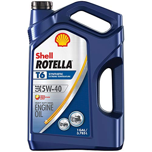 Shell Rotella T6 Full Synthetic 5W-40 Diesel Engine Oil 1-Gallon Case of 3