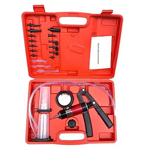 Ama-store Brake Bleeder Kit Hand Held Vacuum Pump Tester Set 21pcs Vacuum Pressure Pump Brake Bleeding Tester Kit Adapters Brake Bleeder Test Kit