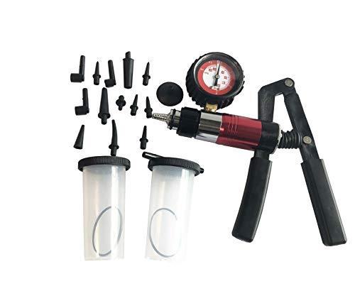 GooMeng Handheld Vacuum Pump Set Tester Brake Bleeder Test Tool Set Vacuum Pressure Pump Kit